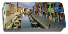 Canal Burano  Venice Italy  Portable Battery Charger