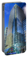 Canary Wharf Portable Battery Charger by David Pyatt