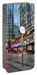 Canary Wharf Twilight Portable Battery Charger by Jasna Buncic