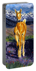 Candy Rocky Mountain Palomino Colt Portable Battery Charger by Jackie Carpenter
