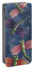 Portable Battery Charger featuring the painting Candy-winged Dragons by Megan Walsh
