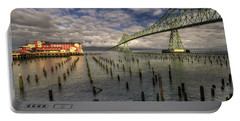 Cannery Pier Hotel And Astoria Bridge Portable Battery Charger