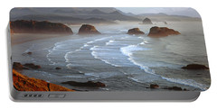 Cannon Beach At Sunset Portable Battery Charger