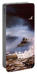 Cannon Beach Oregon Portable Battery Charger by Craig T Burgwardt