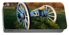 Cannon In The Grass Portable Battery Charger by Michael Porchik