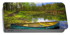 Canoeing At The Lake Portable Battery Charger