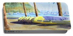 Canoes And Surfboards In The Morning Light - Catalina Portable Battery Charger
