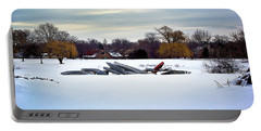Canoes In The Snow Portable Battery Charger