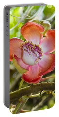 Cannonball Tree Flower Hawaii Portable Battery Charger by Venetia Featherstone-Witty