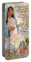 Canticle Of Mary Portable Battery Charger