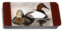 Canvasback Couple Portable Battery Charger by Angela Davies