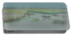 Portable Battery Charger featuring the pastel Canyon View by Michele Myers
