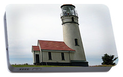 Portable Battery Charger featuring the photograph Cape Blanco Lighthouse by AJ  Schibig