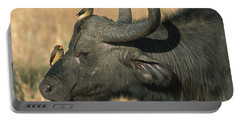 Cape Buffalo And Oxpeckers Portable Battery Charger