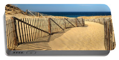 Cape Cod Beach Portable Battery Charger by Mitchell R Grosky