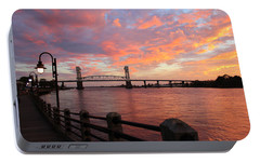 Portable Battery Charger featuring the photograph Cape Fear Bridge by Cynthia Guinn