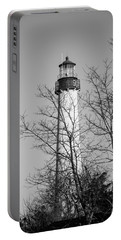 Cape May Light B/w Portable Battery Charger