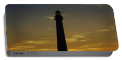 Cape May Lighthouse At Sunset Portable Battery Charger by Ed Sweeney