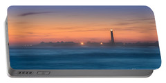 Cape May Lighthouse Sunset Portable Battery Charger by Michael Ver Sprill