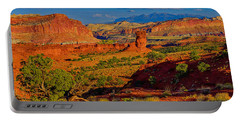 Portable Battery Charger featuring the photograph Capitol Reef Landscape by Greg Norrell