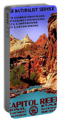 Capitol Reef National Park Vintage Poster Portable Battery Charger