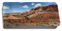 Portable Battery Charger featuring the photograph Capitol Reef Panorama No. 1 by Tammy Wetzel
