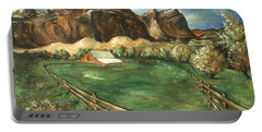 Capitol Reef Utah - Landscape Art Painting Portable Battery Charger