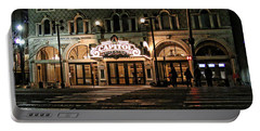 Portable Battery Charger featuring the photograph Capitol Theatre by Ely Arsha