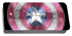 Captain America Shield Digital Painting Portable Battery Charger