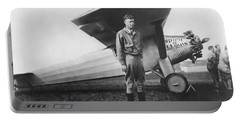 Captain Charles Lindbergh Portable Battery Charger