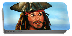 Captain Jack Sparrow Painting Portable Battery Charger
