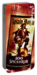Captain Morgan Red Toned Portable Battery Charger by Janie Johnson