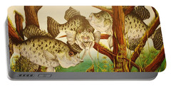 Captivating Crappies Portable Battery Charger by Bruce Bley
