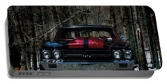 Car Art Chevy Chevelle Ss Hdr Portable Battery Charger by Lesa Fine