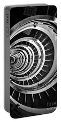 Time Tunnel Spiral Staircase In Sao Paulo Brazil Portable Battery Charger