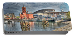 Cardiff Bay Textured Portable Battery Charger