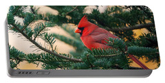 Cardinal In Balsam Portable Battery Charger by Susan Capuano