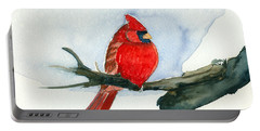 Cardinal Portable Battery Charger by Katherine Miller