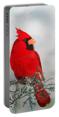 Cardinal Portable Battery Charger by Laurel Best