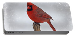 Cardinal Perching Portable Battery Charger