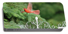 Portable Battery Charger featuring the photograph Cardinal Time To Soar by Thomas Woolworth