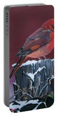 Cardinal Winter Songbird Portable Battery Charger