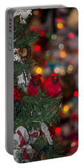 Portable Battery Charger featuring the photograph Cardinals At Christmas by Patricia Babbitt