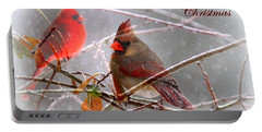 Cardinals - Male And Female - Img_003card Portable Battery Charger by Travis Truelove