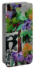 Portable Battery Charger featuring the painting Carefree by Beverley Harper Tinsley