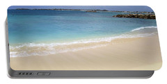 Portable Battery Charger featuring the photograph Caribbean Beach Front by Fiona Kennard