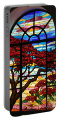Caribbean Stained Glass  Portable Battery Charger by The Art of Alice Terrill