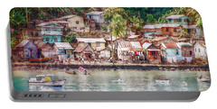 Caribbean Village Portable Battery Charger by Hanny Heim