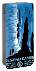 Carlsbad Caverns National Park Vintage Poster Portable Battery Charger
