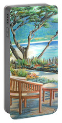 Carmel Lagoon View Portable Battery Charger by Jane Girardot